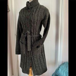 Sweaters - Wool blend 3/4 length cardigan